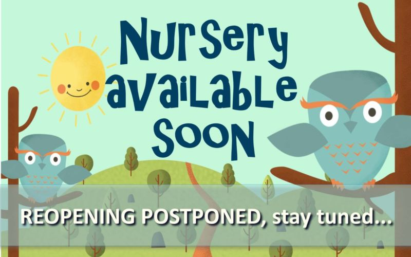Nursery Available Sign 2 POSTPONED